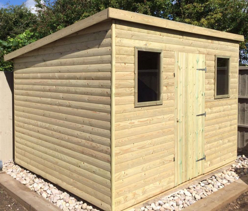 TIMBERLAND SHEDS YORKSHIRE Homepage - Difference between log lap sheds and ship lap sheds